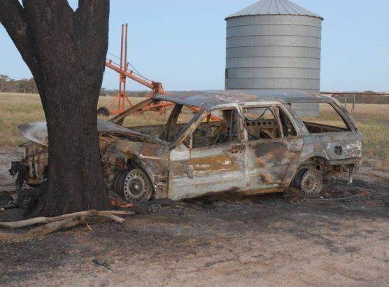 Farmer accused of murdering wife by crashing car into tree then burning her alive inside image
