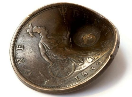 Penny that saved soldier's life goes up for auction image