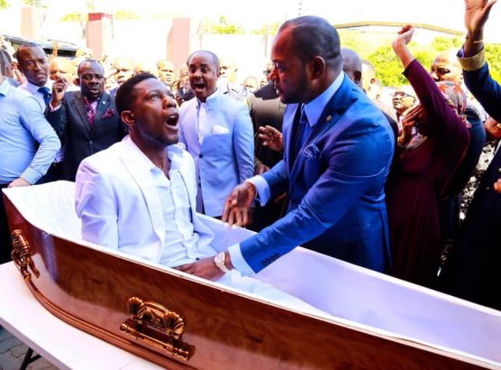 South African pastor claims to bring man back from the dead image